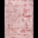 Tapis en viscose rose poudre 160x230cm-TANSEN