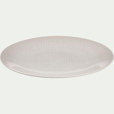 Assiette plate en grès blanc D27cm-BAHNA