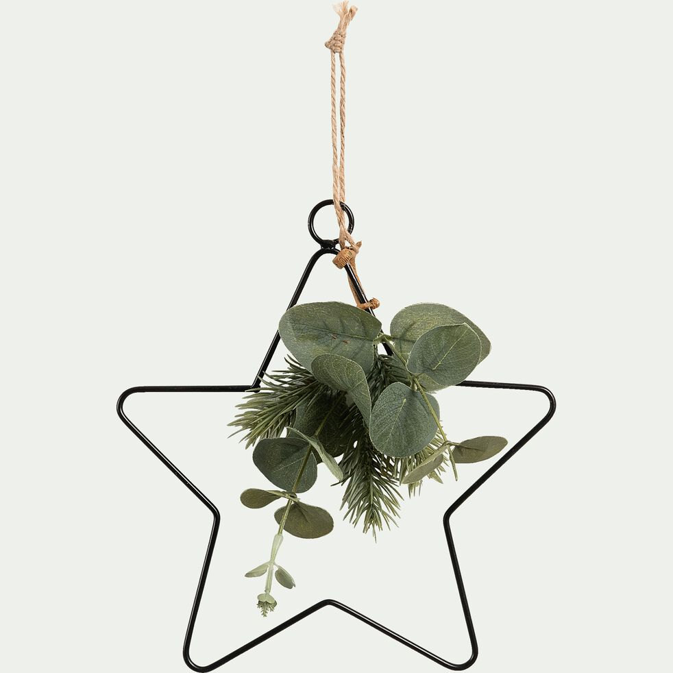 Suspension étoile avec feuillage D20cm-TAYTAY