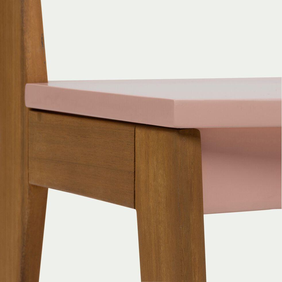 Chaise en acacia pour enfant - rose-Raphaël