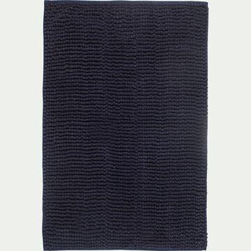 Tapis de bain rectangulaire antidérapant - l50xL80cm bleu calabrun-Picus