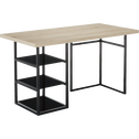 Tréteau / caisson de bureau Noir avec 3 tablettes en verre-ARMADA