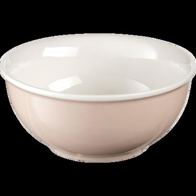 Bol en porcelaine rose grège D12cm-CAFI