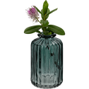 Vase en verre gris H10cm-Cios
