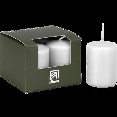 4 bougies votives blanc capelan-HALBA