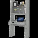 Bureau étagère effet béton 2 tiroirs-YOLO