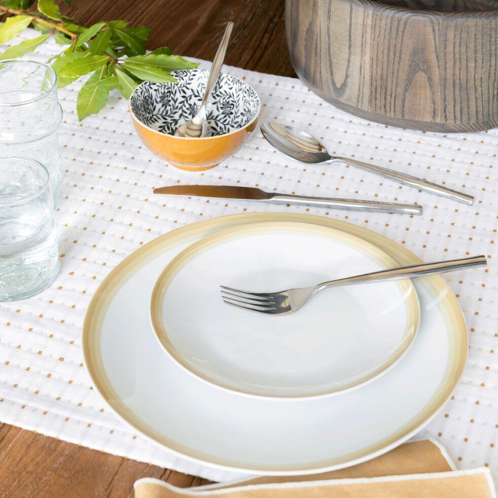 Gamme de vaisselle en porcelaine beige nèfle-VIC