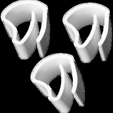 Lot de 3 supports pour store vénitien en aluminium - blanc-ACCESS