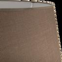 Abat-jour tambour brun châtaigner-MISTRAL