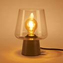 Lampe à poser en métal gris restanque H21cm-BRIGIT