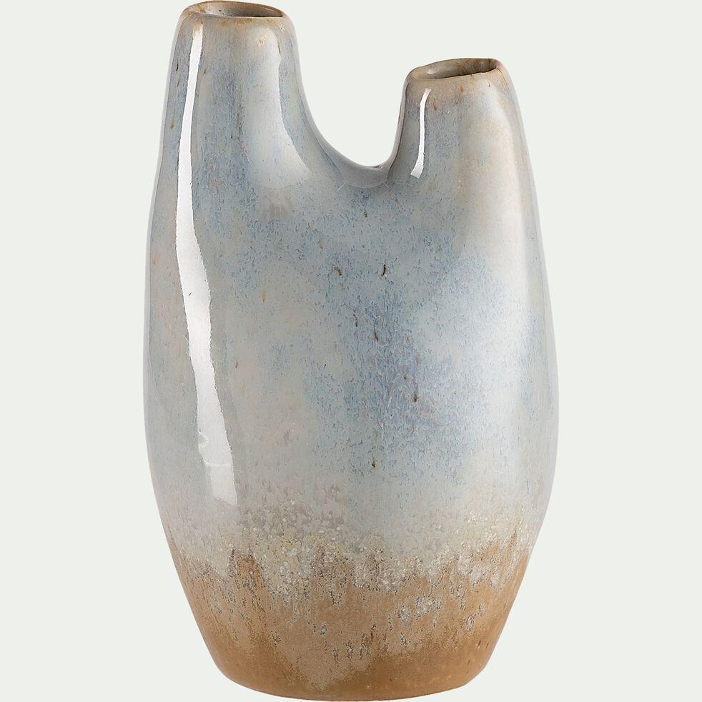 Vase en céramique - bleu H13cm-KRISHNA