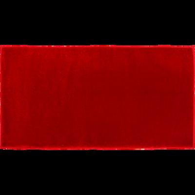 Descente de lit imitation fourrure 60x120cm rouge-Rubico