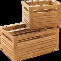 Tiroir grand modèle en bambou-DANONG