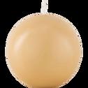 Bougie ronde beige estérel D10cm-HALBA