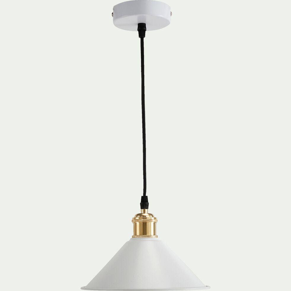 Suspension électrifiée en métal -  blanc D22xH100cm-GIULIAN