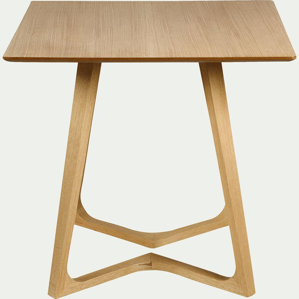 Table De Repas Carree Plaquee Chene 4 Places Ursule 80x80cm