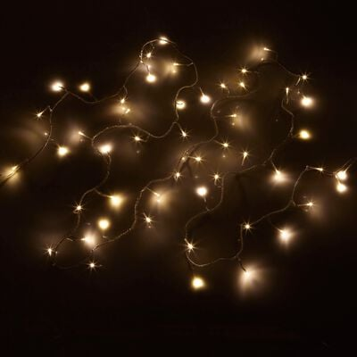 Guirlande lumineuse 13,5m - 180 led blanc chaud fil transparent-BASIC