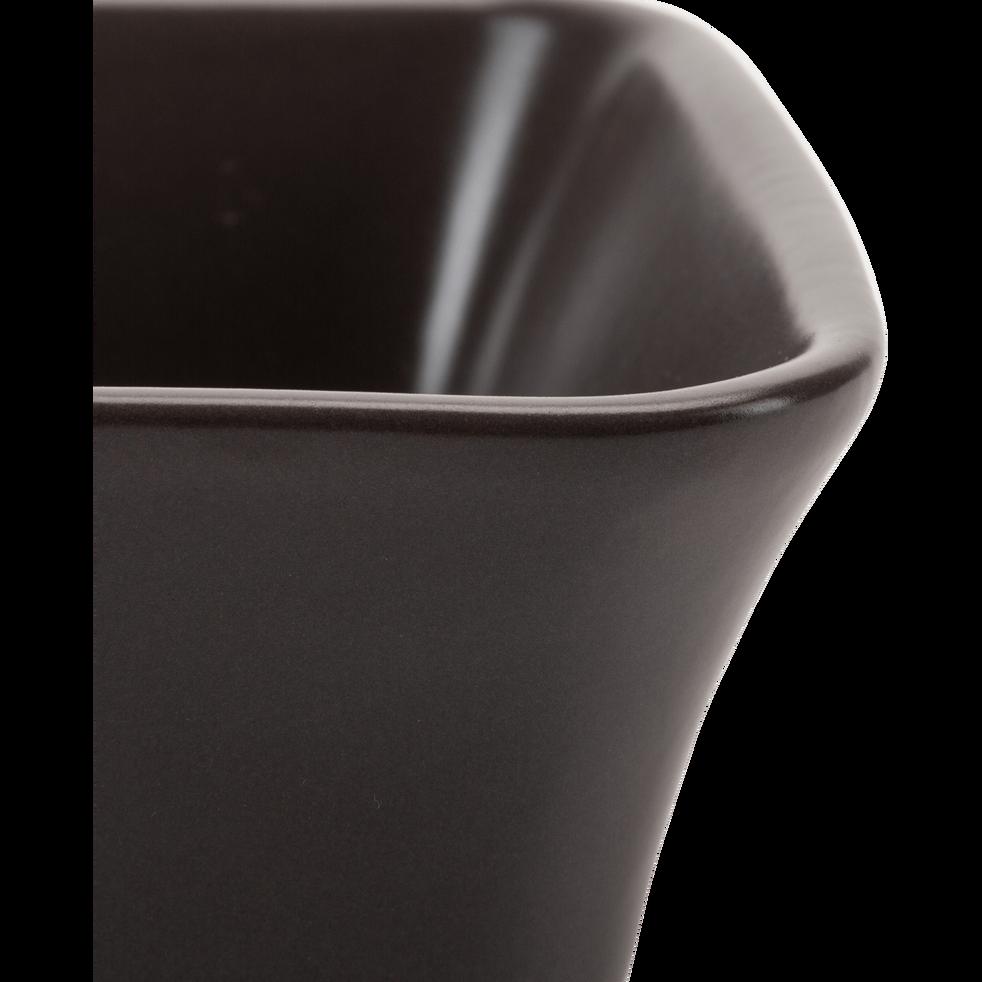 Plat à four rectangulaire en grès brun châtaignier 32x20cm-ALVARA