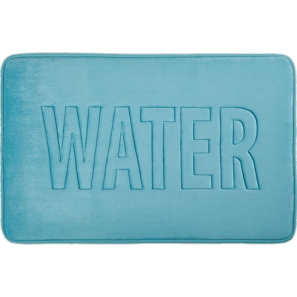 Tapis de bain 50x80cm à mémoire de forme bleu-WATER