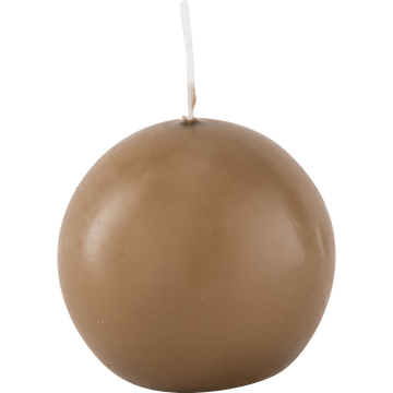 Bougie ronde brun albe D6cm-HALBA