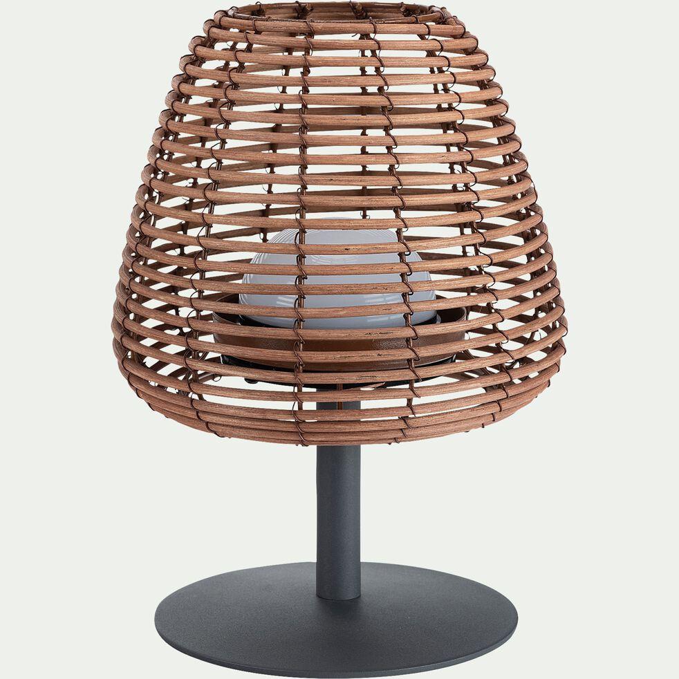 Lampe d'extérieur sans fil en rotin - H25cm-STANDY BOHEME