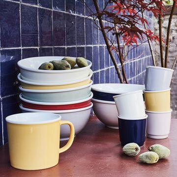 Service petit-déjeuner en porcelaine - plusieurs coloris