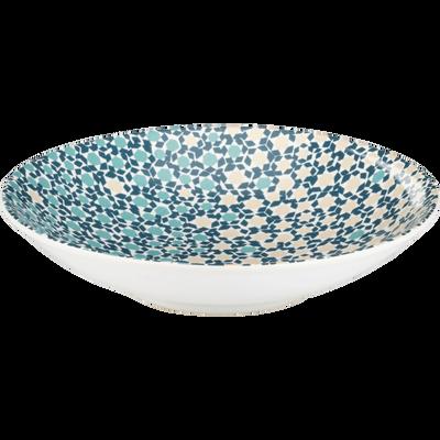 Assiette creuse en grès bleu D22cm-ZELLIGES