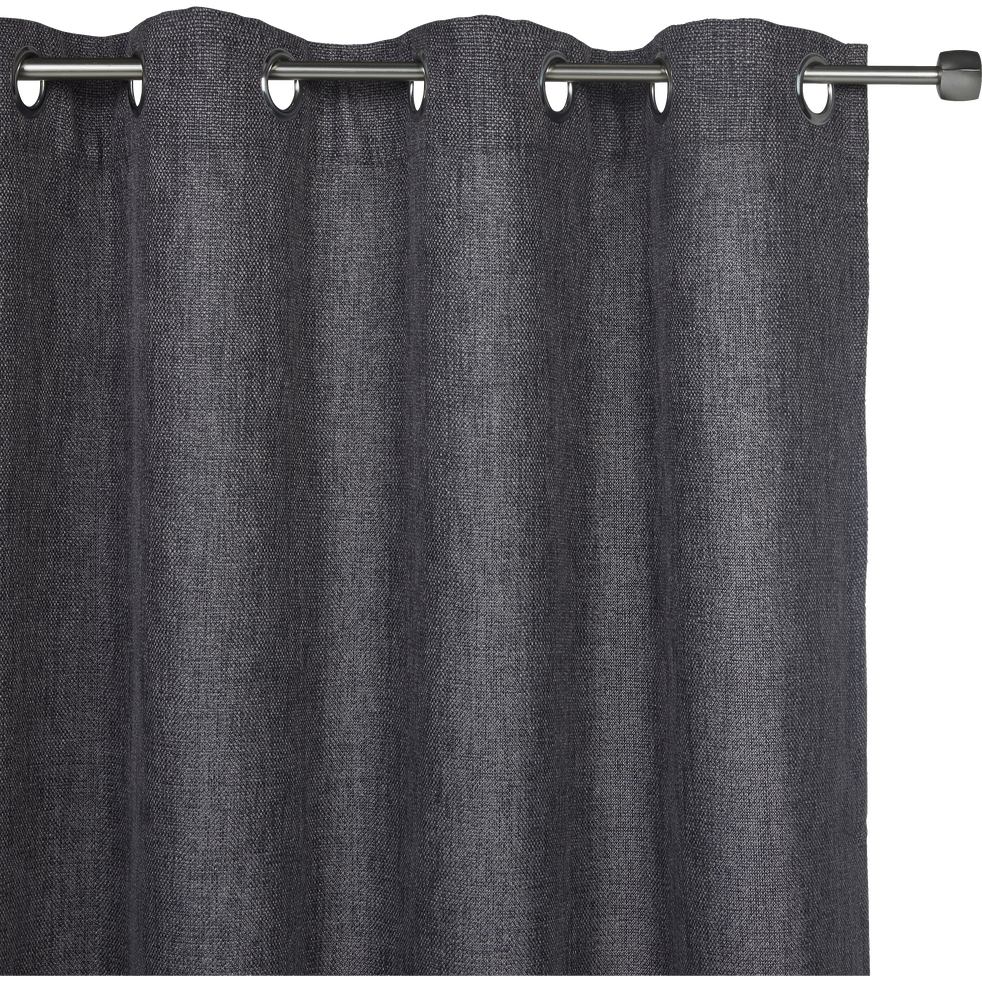 Rideau à oeillets gris anthracite 140x250cm-CADOLIVE