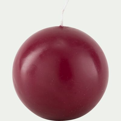 Bougie ronde rouge sumac D10cm-HALBA