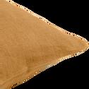 Coussin en lin lavé beige nèfle 40x60cm-VENCE