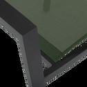 Fauteuil de jardin empilable vert cèdre en textilène-ELSA