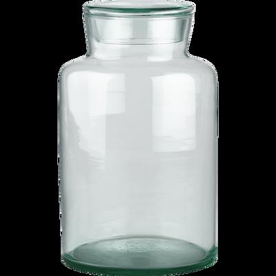 Bonbonnière en verre recyclé transparent 450cl-EPURE