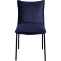 Chaise rembourrée en velours bleu figuerolles-LISON