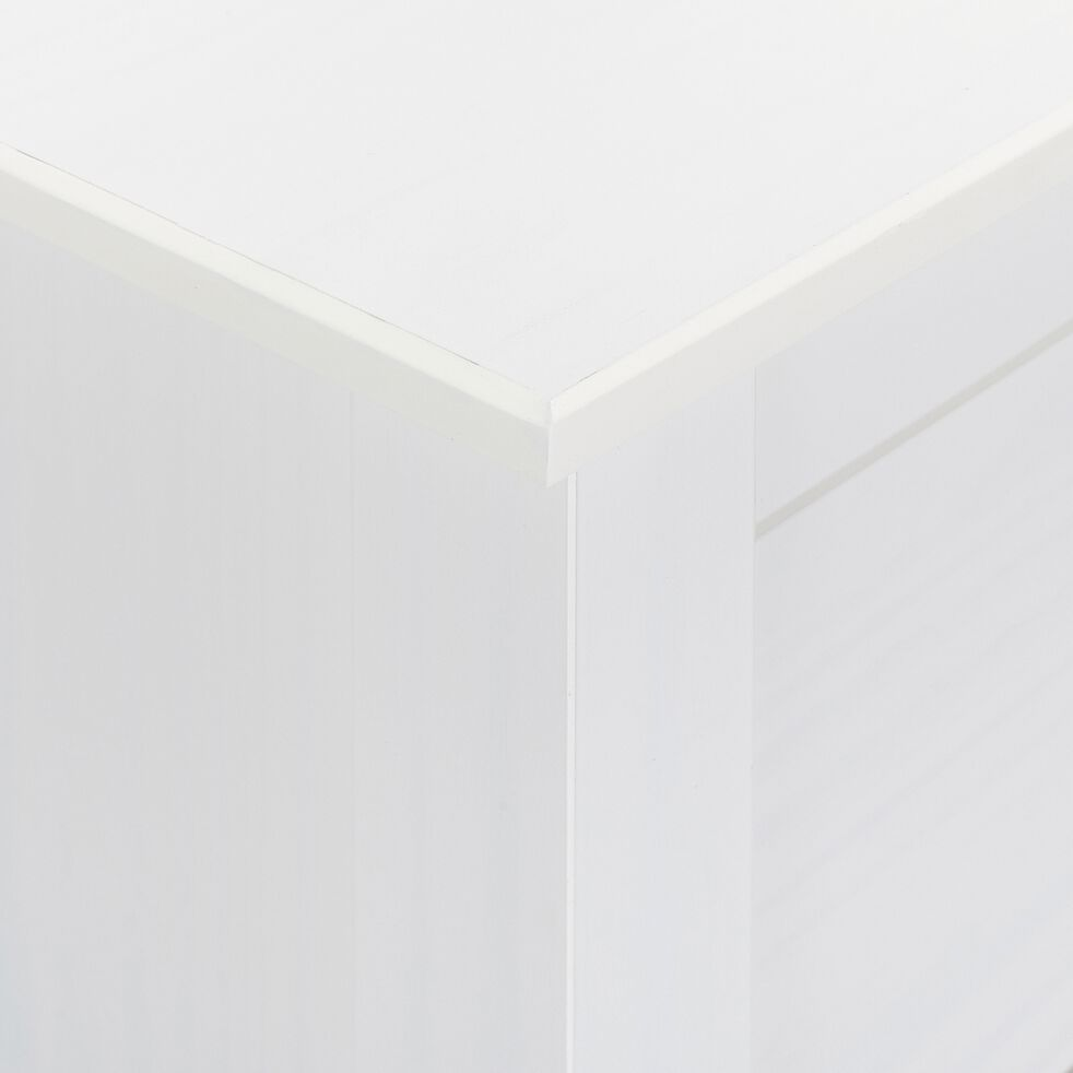Meuble de rangement de chambre 2 portes et 1 tiroir - blanc-LISA
