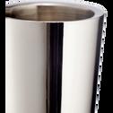 Bougeoir argenté H20cm-CETI