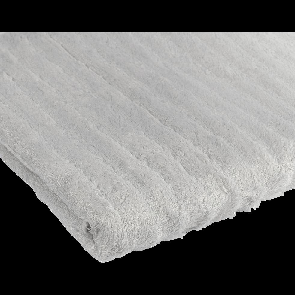 Drap de douche en viscose et coton 70x140cm gris borie-AUBIN