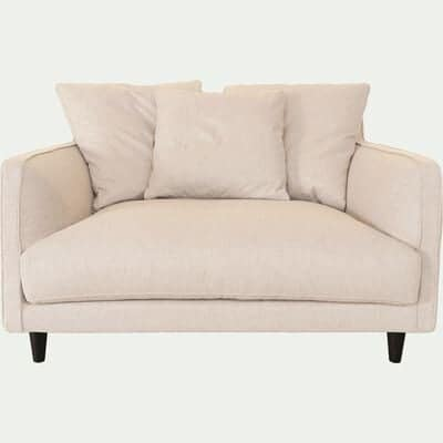 Canapé 1.5 places fixe en tissu beige roucas-LENITA