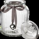 Bonbonnière en verre ruban gris 4L-Helena
