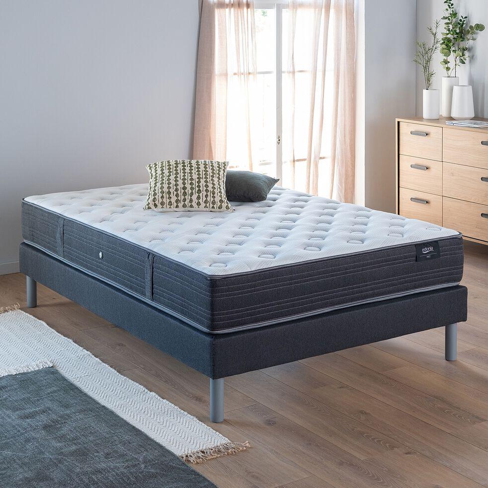 Matelas ressorts confort ferme H28cm - 180x200cm gris anthracite-RIEZ
