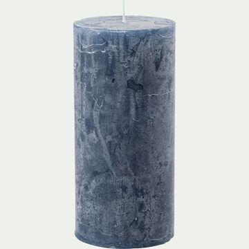 Bougie cylindrique coloris bleu myrte-BEJAIA