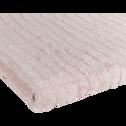 Drap de douche en viscose et coton 70x140cm rose grège-AUBIN