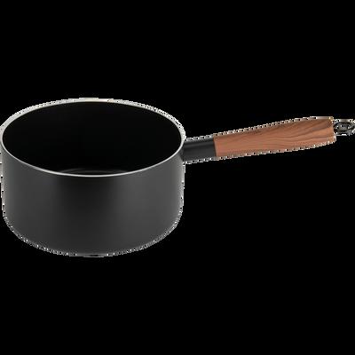 Casserole en aluminium noir D20cm (tous feux dont induction)-PADENA