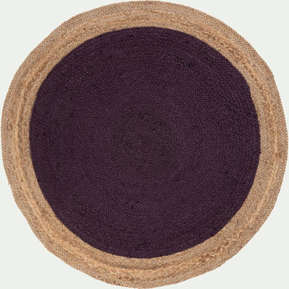 Tapis rond en jute violet-NAÏA