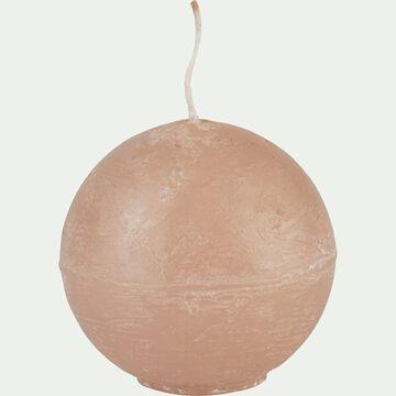 Bougie ronde rose argile D6cm-BEJAIA