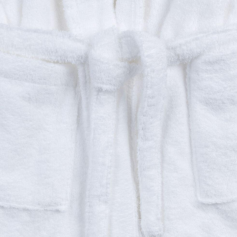 Peignoir en coton et polyester - blanc optique S/M-AZUR