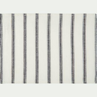 Set de table en lin et coton noir et blanc 36x48cm-PASSO