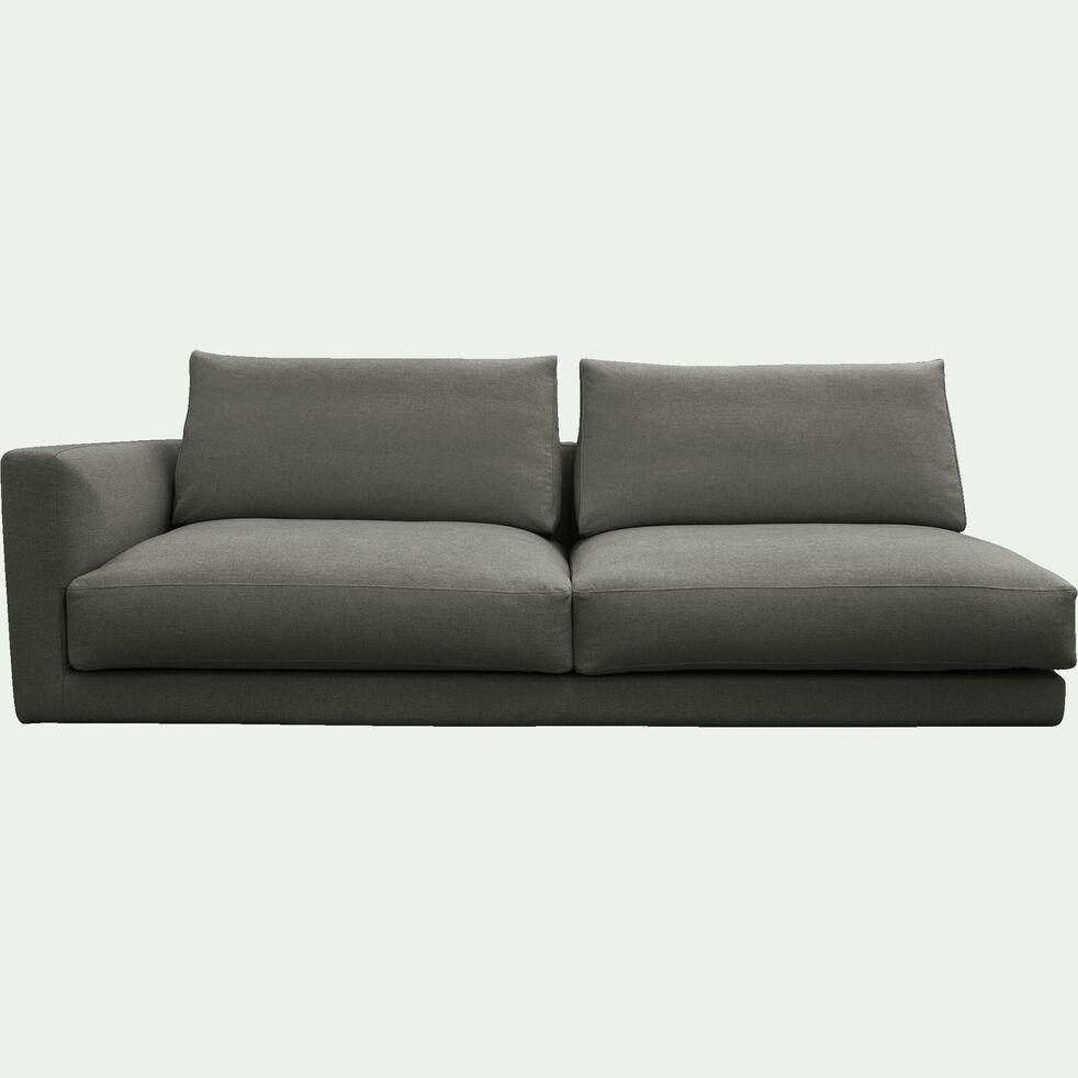 Élément de canapé 3 places gauche modulable en tissu gris restanque-AUDES