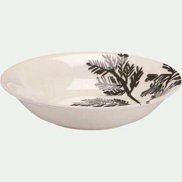 Assiette creuse en faïence - blanc D24cm-FOGLIA