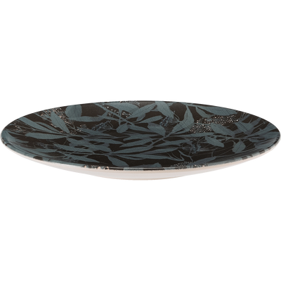 Assiette à dessert en grès noir D20cm-OMBRAGE