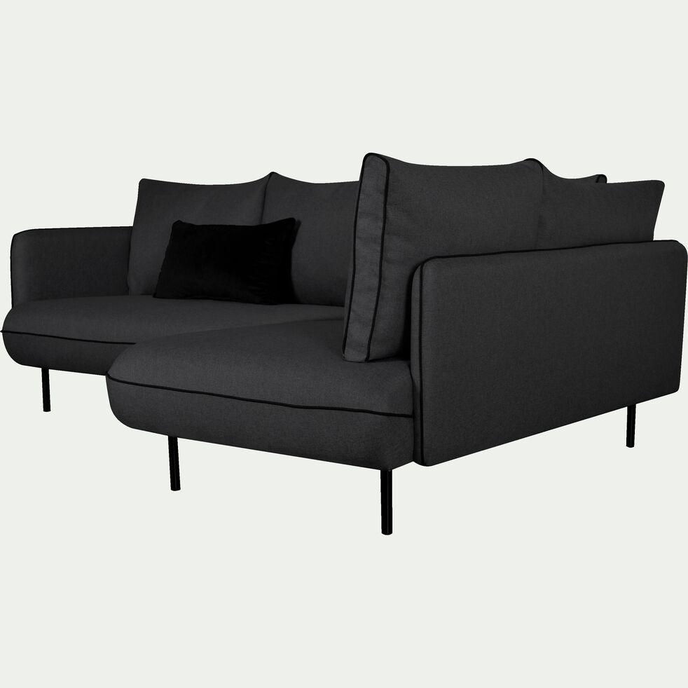 Canapé d'angle fixe droit - gris calabrun-SAOU